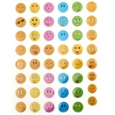 Самозалепващи стикери усмивки 10 листа x 48 броя