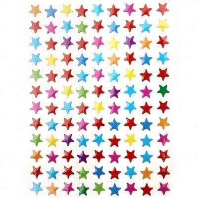 Самозалепващи стикери звезди 10 листа x 108 броя