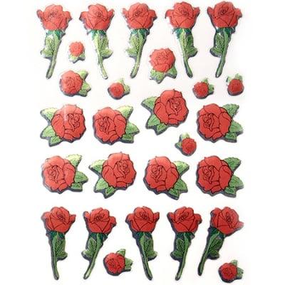Самозалепващи стикери рози 10 листа x 27 броя