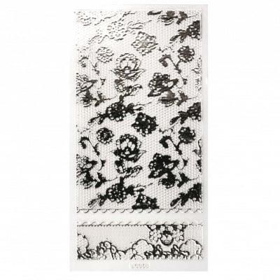 Стикери за декорация дантела АСОРТЕ цвят сребро