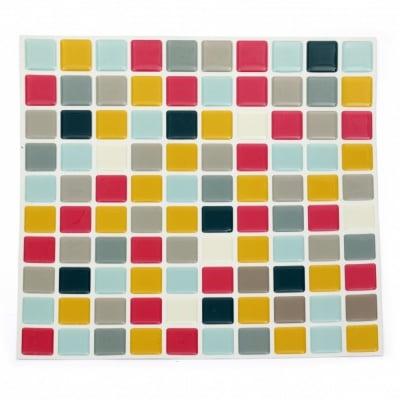 Самозалепващи стикери за декорация 3D 255х255 квадрати асорте