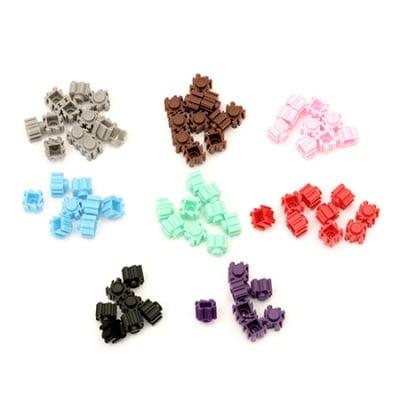 Елементи за конструиране на фигурки 80x80x70 мм различни цветове