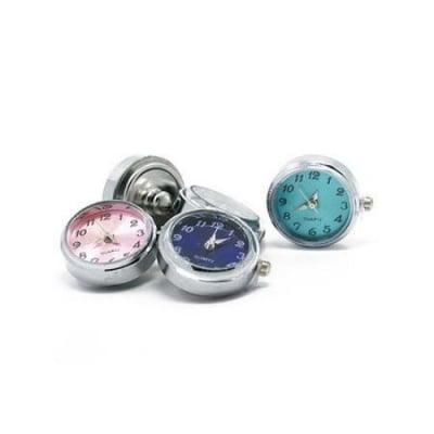 Часовник кварц метал цвят сребро NF копче Тик- так 24x21x5 мм. АСОРТЕ