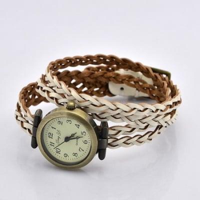 Часовник естествена кожа метал цвят античен бронз 450x11.5 мм.