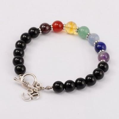 Гривна Тибетски стил естествен камък - 7 ЧАКРИ