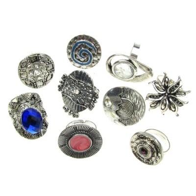 Пръстен метал цвят сребро АСОРТЕ