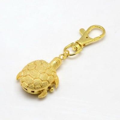 Ключодържател часовник отварящ метал цвят злато 85x30 мм. костенурка
