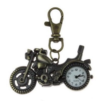 Ключодържател часовник отварящ метал цвят античен бронз 70 мм. мотор