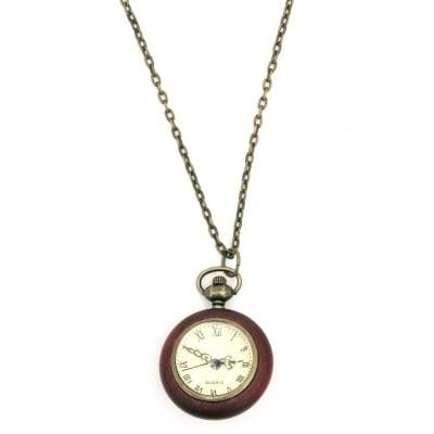 Гердан часовник кварц метал дърво 40 см.