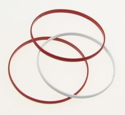 Гривна метална бяло и червено 53 мм 3в1 - 12 броя