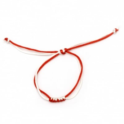 Гривна мартеница копринен шнур плетена 10 броя