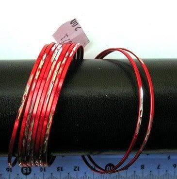 Гривна метал бяло и червено 70мм. -10бр. 4