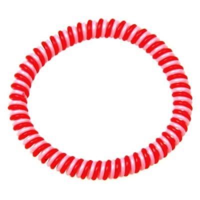 Гривна гумена бяло и червено -10бр.