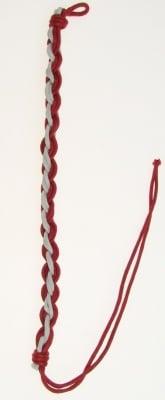 Гривна макраме бяла и червена 10 броя