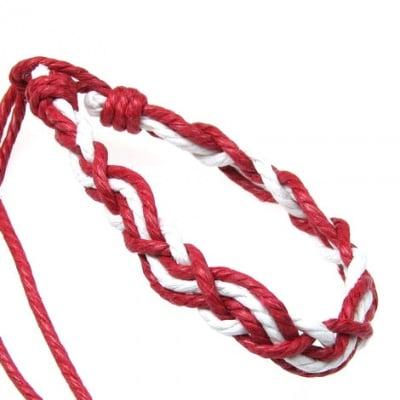 Мартеници гривни макраме шнур памучен 10 броя