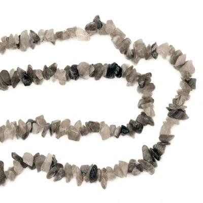 Наниз полускъпоценни камъни чипс 5-7 мм ~90 см КВАРЦ