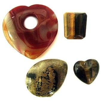 Висулки естествен камък АСОРТЕ 30-70 мм