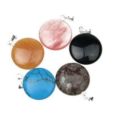 Висулка естествен камък АСОРТЕ 18x5 мм