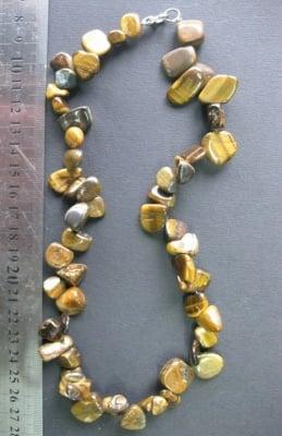 Гердан естествен камън ТИГРОВО ОКО -22 см