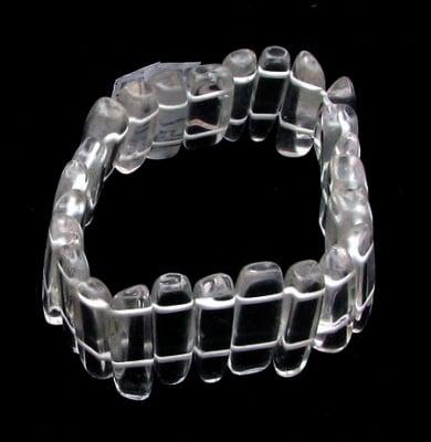 Гривна естествен камък ПЛАНИНСКИ КРИСТАЛ плочка 32x7 мм