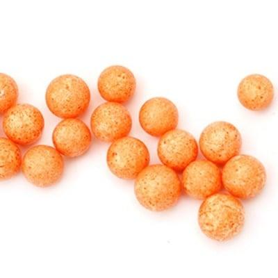 Топче стиропор 7-9 мм за декорация оранжево ~7 грама ~1900 броя