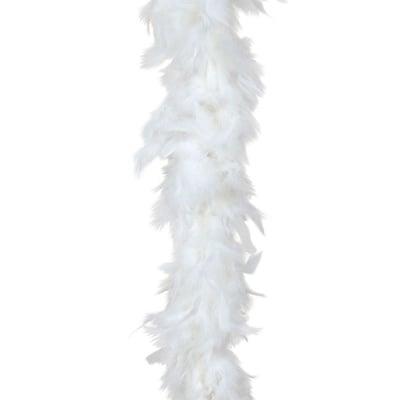 Марабу - шал от пера 180 см бял