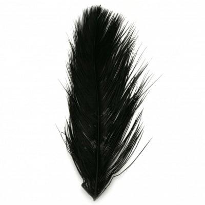 Перо щраусово 300~350 мм цвят черен