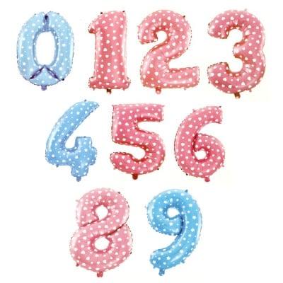 Балон фолиев от 0 до 9 цифри 25±30x40±46 см цвят Асорте