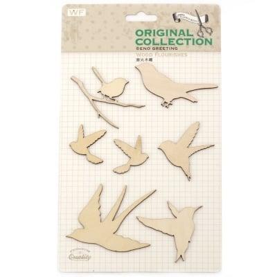Комплект за декорация дърво-птици