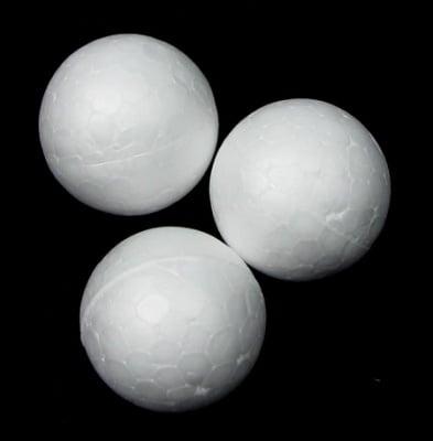 Топче стиропор 25 мм. за декорация бяло -20 броя
