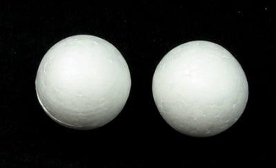 Топче стиропор 30 мм. за декорация бяло -10 броя