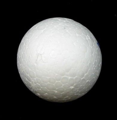 Топче стиропор 60 мм. за декорация бяло -5 броя