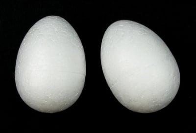 Яйце стиропор 75х57 мм за декорация -5 броя