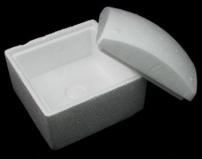 Кутия стиропор с капак за декорация квадрат 130x130x100 мм