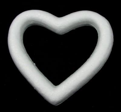 Сърце с дупка 140х137 мм за декорация, стиропор  -2 броя