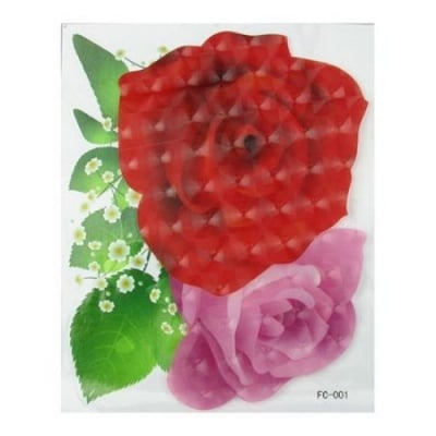 Апликация за стена 3D 20х25 см цвете РОЗА светеща