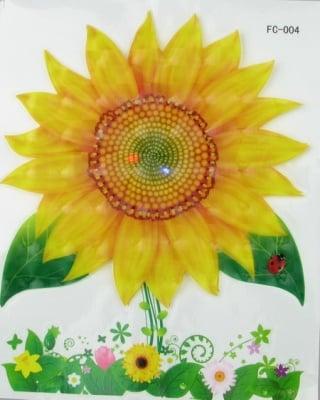 Апликация за стена 3D 20x25 см цвете СЛЪНЧОГЛЕД светеща