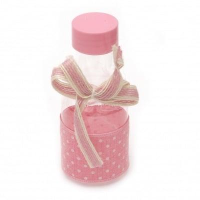 Шише пластмасово за декорация 110x45 мм розово