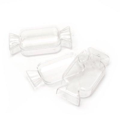 Бонбон пластмасов прозрачен с капак 120x60x33 мм