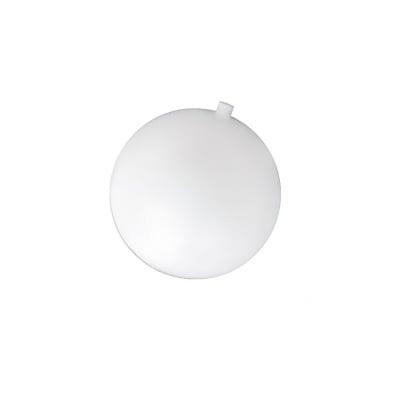 Топка пластмасова 50 мм с една дупка 8 мм бяла