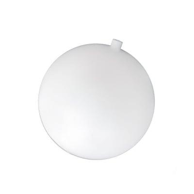 Топка пластмасова 80 мм с една дупка 8 мм бяла