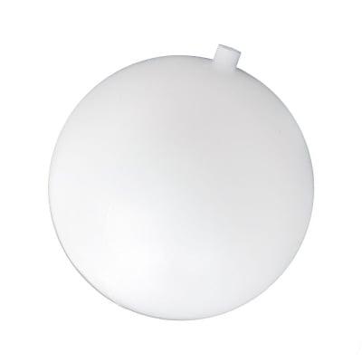Топка пластмасова 150 мм с една дупка 16 мм бяла
