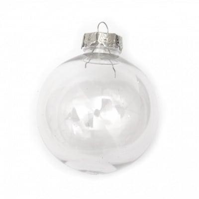 Комплект топка пластмасова прозрачна 80 мм с една дупка шапка метална 25x25x10 мм и държач метален 36 мм