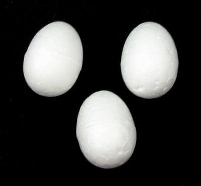 Яйце стиропор 25x18 мм за декорация -50 броя