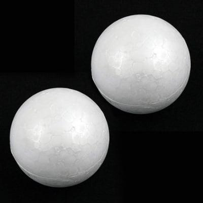 Топче стиропор 73 мм. за декорация бяло -2 броя