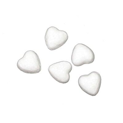 Сърце стиропор 18x18x10 мм за декорация -20 броя