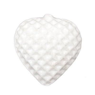 Сърце стиропор 93x88x40 мм за декорация -2 броя