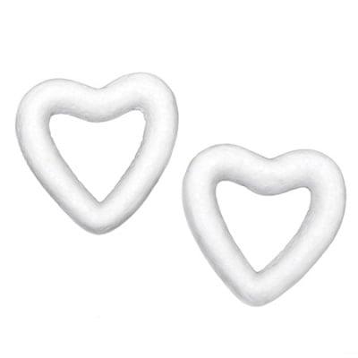 Сърце стиропор 49x50x12 мм за декорация -5 броя