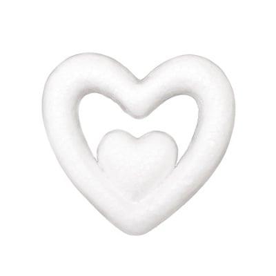 Сърце в сърце стиропор 76x80x17 мм -2 броя
