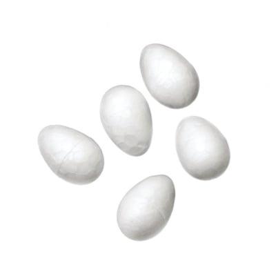 Яйце стиропор 15х10 мм за декорация -50 броя